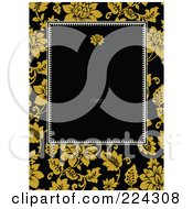 Royalty Free RF Clipart Illustration Of A Floral Invitation Template With Copyspace 13