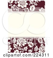 Royalty Free RF Clipart Illustration Of An Invitation Template Of White Roses On Red Around White