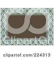 Royalty Free RF Clipart Illustration Of A Floral Invitation Template With Copyspace 18