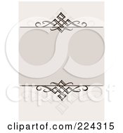 Royalty Free RF Clipart Illustration Of A Swirl Invitation Template With Copyspace 3