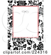 Royalty Free RF Clipart Illustration Of A Floral Invitation Template With Copyspace 21