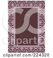 Royalty Free RF Clipart Illustration Of An Invitation Template With Copyspace 21