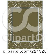 Royalty Free RF Clipart Illustration Of A Swirl Invitation Template With Copyspace 4