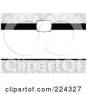 Royalty Free RF Clipart Illustration Of A Floral Invitation Template With Copyspace 16