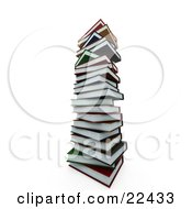 Clipart Illustration Of A Colorful Tall Stack Of School Books