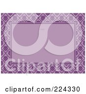 Royalty Free RF Clipart Illustration Of A Floral Invitation Template With Copyspace 9