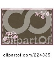 Royalty Free RF Clipart Illustration Of A Floral Invitation Template With Copyspace 22