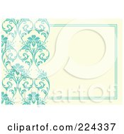 Royalty Free RF Clipart Illustration Of A Floral Invitation Template With Copyspace 15