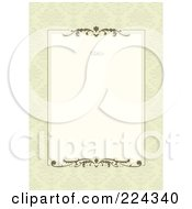 Royalty Free RF Clipart Illustration Of An Invitation Template With Copyspace 4