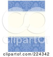 Royalty Free RF Clipart Illustration Of A Floral Invitation Template With Copyspace 19