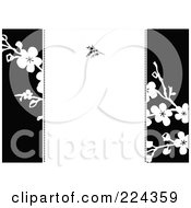 Royalty Free RF Clipart Illustration Of A Floral Invitation Template With Copyspace 7