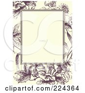 Royalty Free RF Clipart Illustration Of A Floral Invitation Template With Copyspace 25