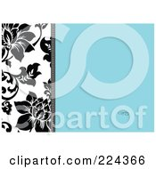Royalty Free RF Clipart Illustration Of A Floral Invitation Template With Copyspace 23
