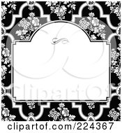 Royalty Free RF Clipart Illustration Of A Floral Invitation Template With Copyspace 34