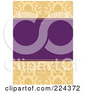 Royalty Free RF Clipart Illustration Of A Floral Invitation Template With Copyspace 29