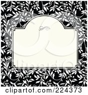 Royalty Free RF Clipart Illustration Of A Floral Invitation Template With Copyspace 37