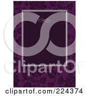 Royalty Free RF Clipart Illustration Of A Floral Invitation Template With Copyspace 28