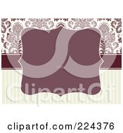 Royalty Free RF Clipart Illustration Of A Floral Invitation Template With Copyspace 40