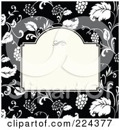 Royalty Free RF Clipart Illustration Of A Floral Invitation Template With Copyspace 36