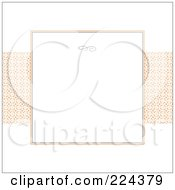 Royalty Free RF Clipart Illustration Of An Invitation Template With Copyspace 34