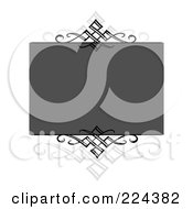 Royalty Free RF Clipart Illustration Of A Swirl Invitation Template With Copyspace 10