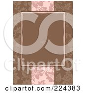 Royalty Free RF Clipart Illustration Of A Floral Invitation Template With Copyspace 38