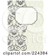 Royalty Free RF Clipart Illustration Of A Floral Invitation Template With Copyspace 32