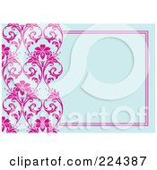 Royalty Free RF Clipart Illustration Of A Floral Invitation Template With Copyspace 27