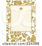 Royalty Free RF Clipart Illustration Of An Invitation Template Of Yellow Roses Around Cream