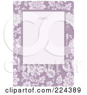 Royalty Free RF Clipart Illustration Of An Invitation Template Of Purple Roses