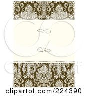 Royalty Free RF Clipart Illustration Of A Floral Invitation Template With Copyspace 33