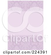 Royalty Free RF Clipart Illustration Of A Floral Invitation Template With Copyspace 24