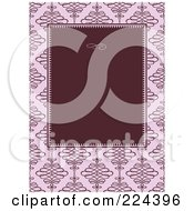 Royalty Free RF Clipart Illustration Of A Swirl Invitation Template With Copyspace 9