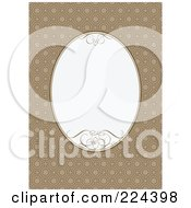 Royalty Free RF Clipart Illustration Of An Invitation Template With Copyspace 25