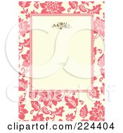 Royalty Free RF Clipart Illustration Of A Floral Invitation Template With Copyspace 26