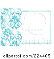 Royalty Free RF Clipart Illustration Of A Floral Invitation Template With Copyspace 44