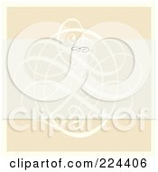Royalty Free RF Clipart Illustration Of A Swirl Invitation Template With Copyspace 13