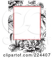 Royalty Free RF Clipart Illustration Of A Floral Invitation Template With Copyspace 42