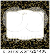 Royalty Free RF Clipart Illustration Of A Floral Invitation Template With Copyspace 35
