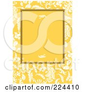 Royalty Free RF Clipart Illustration Of A Yellow Wheat Invitation With Copyspace