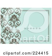 Royalty Free RF Clipart Illustration Of A Floral Invitation Template With Copyspace 31 by BestVector