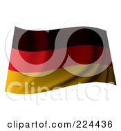 Royalty Free RF Clipart Illustration Of A Waving Germany Flag by michaeltravers