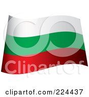 Royalty Free RF Clipart Illustration Of A Waving Bulgaria Flag by michaeltravers
