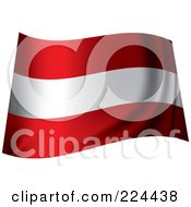 Royalty Free RF Clipart Illustration Of A Waving Austria Flag by michaeltravers