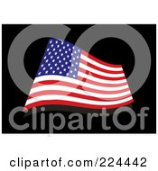 Royalty Free RF Clipart Illustration Of A Wavy USA Flag
