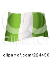 Royalty Free RF Clipart Illustration Of A Waving Nigerian Flag by michaeltravers