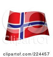 Royalty Free RF Clipart Illustration Of A Waving Norway Flag