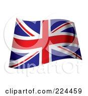 Royalty Free RF Clipart Illustration Of A Wavy UK Flag