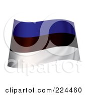Royalty Free RF Clipart Illustration Of A Waving Estonia Flag by michaeltravers