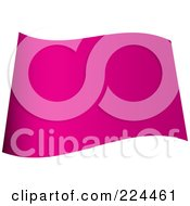 Royalty Free RF Clipart Illustration Of A Wavy Blank Pink Flag